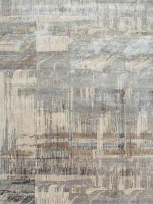 contemporary designer rug in grey and cream
