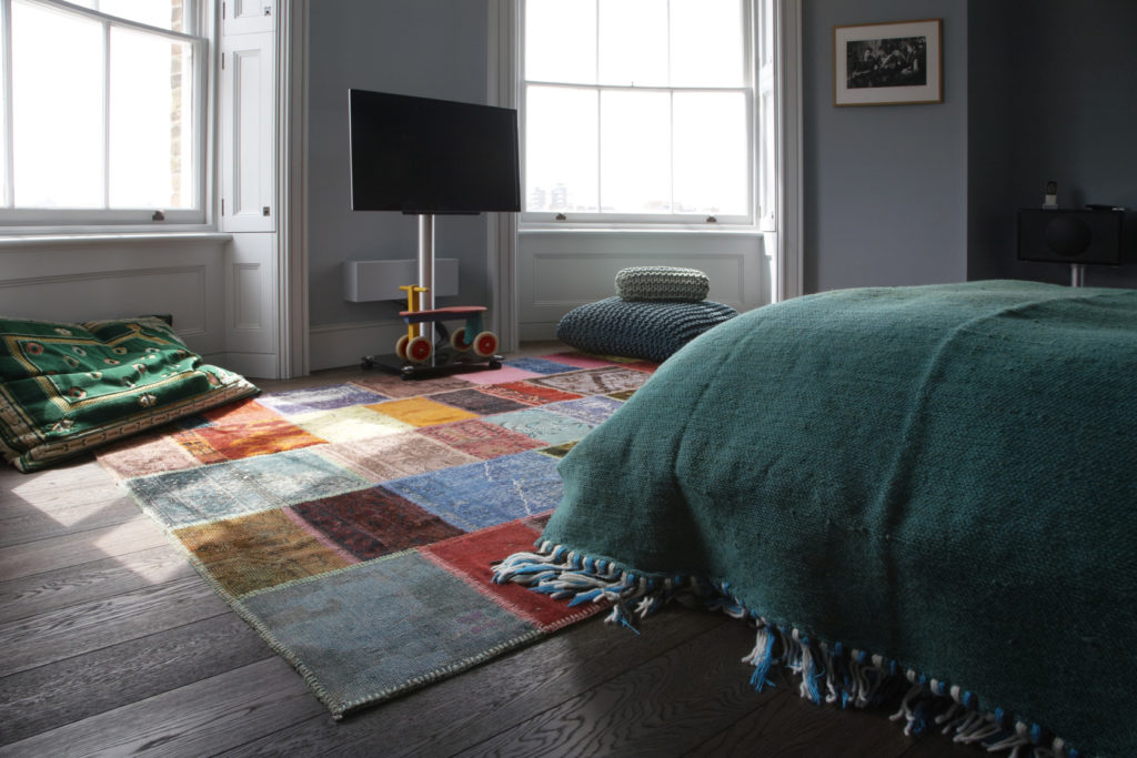 Vintage Patchwork Multi – Vintage rug by Bazaar Velvet