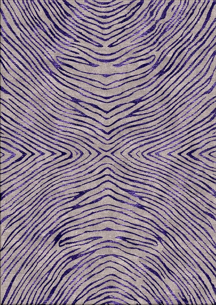 contemporary rug animal print