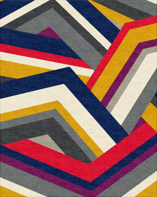 geometric hand knotted rugs