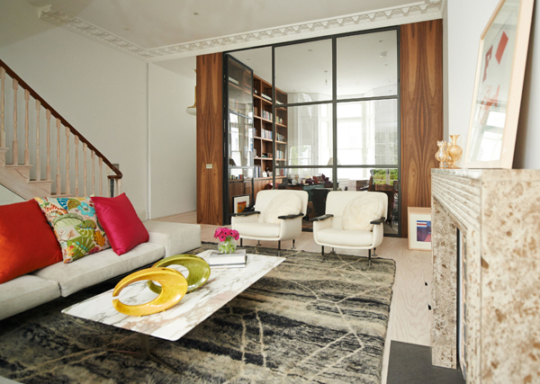 berber rug by bazaar velvet in living room