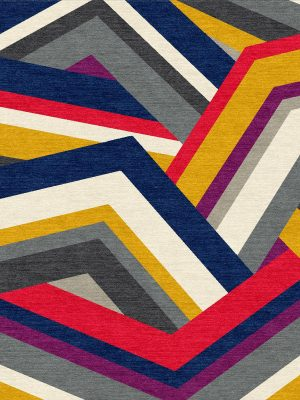 multi coloured geometric rug