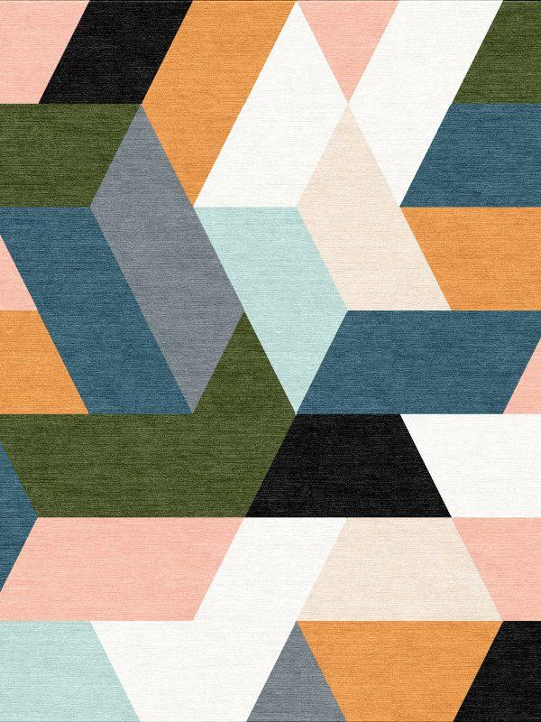 colourful geometric rug