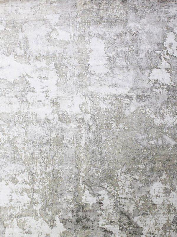 cream designer rug in bamboo silk
