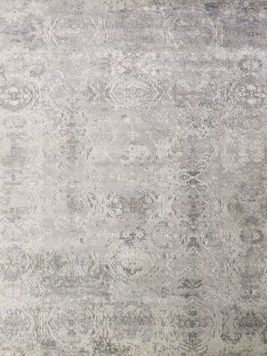 grey silk abstract rug