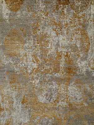 luxury rug with bronze silk abstract design