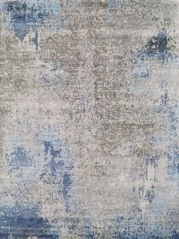 abstract designer rug with ribbed texture