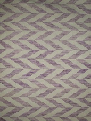 purple geometric wool rug
