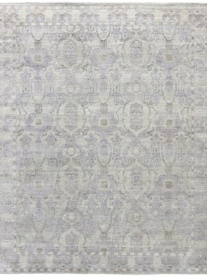 luxury wool and silk rug ivory