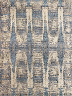 luxury blue abstract rug