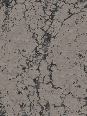 hand knotted contemporary rug with black silk