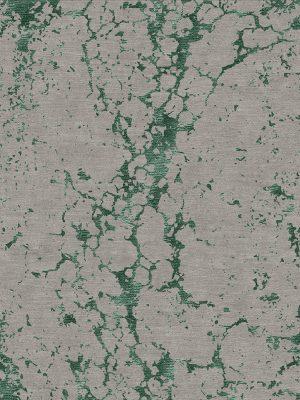 contemporary rug with green silk design