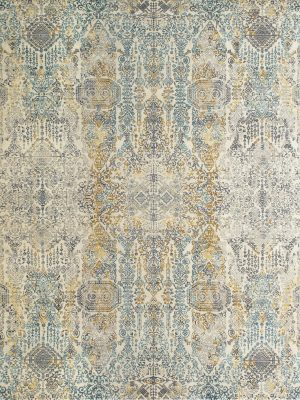 luxury rug with transitional design