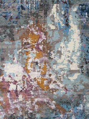 pastel coloured abstract rug