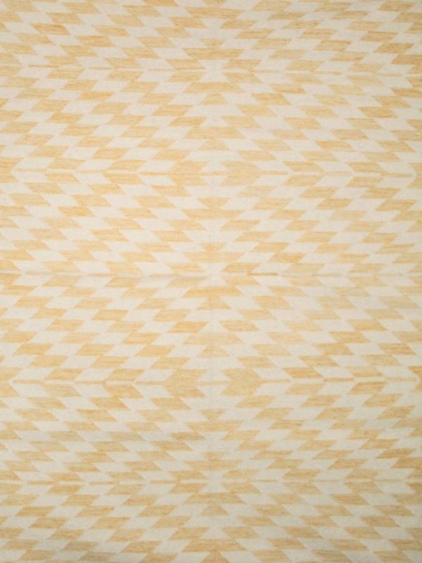 yellow geometric wool rug
