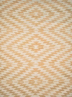 gold geometric wool rug