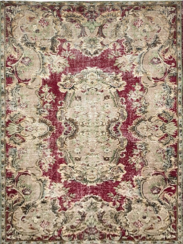 red classic vintage rug