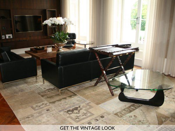 vintage patchwork in living room