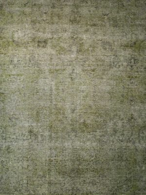 green over-dyed vintage rug