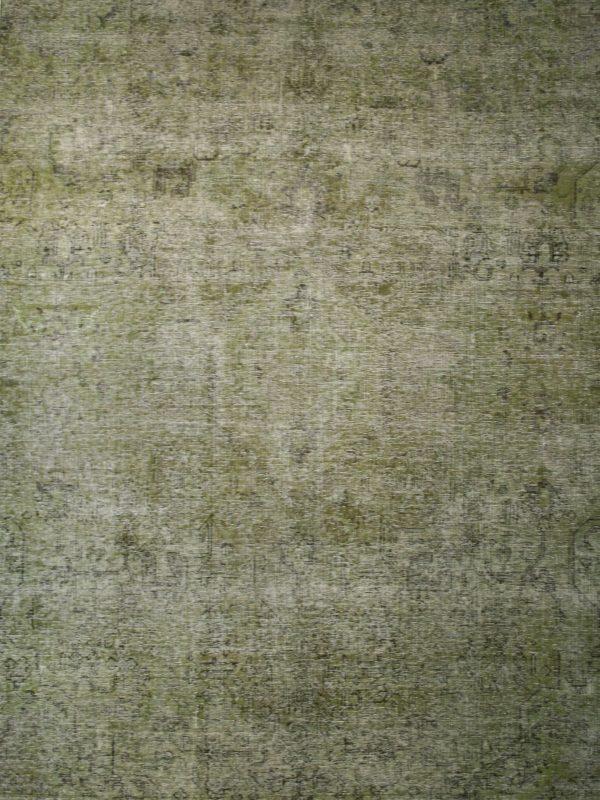 green over-dyed vintage rug