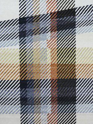 modern plaid rug