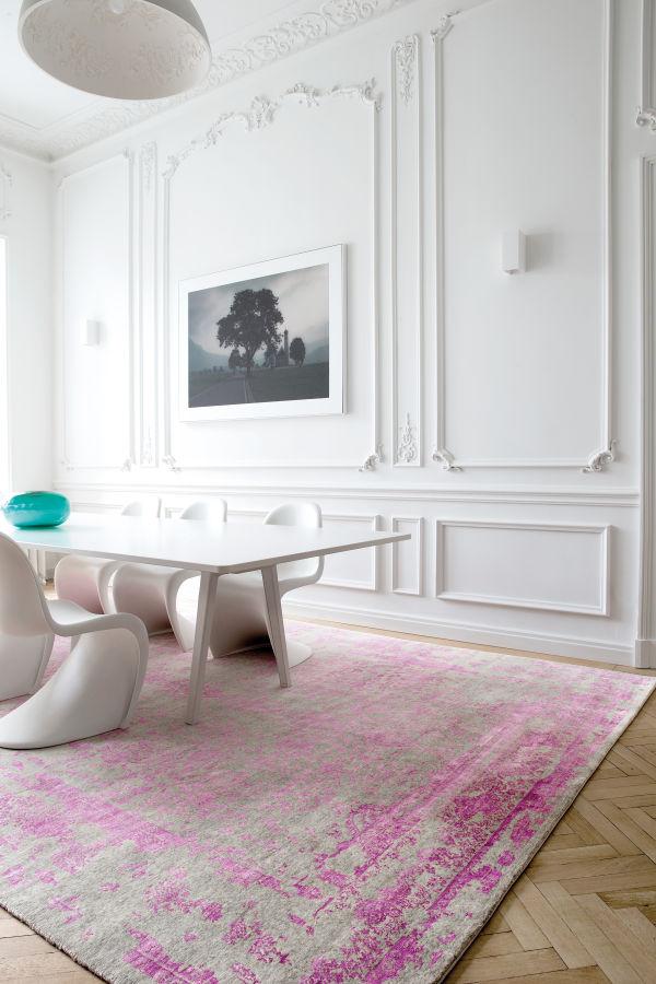 pink transitional rug