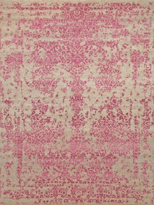 Fuchsia pink traditional modern rug