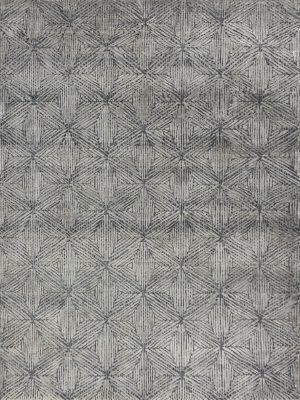 rug with grey silk design