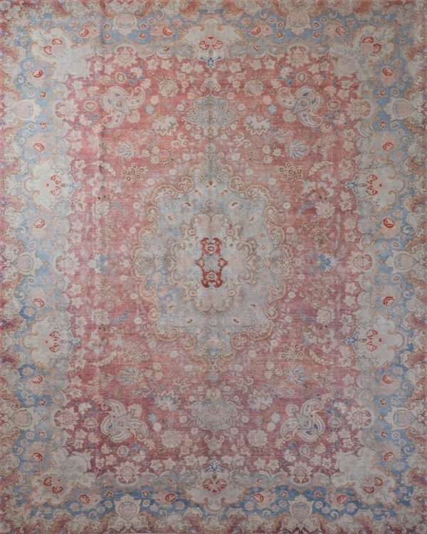 faded vintage persian rug