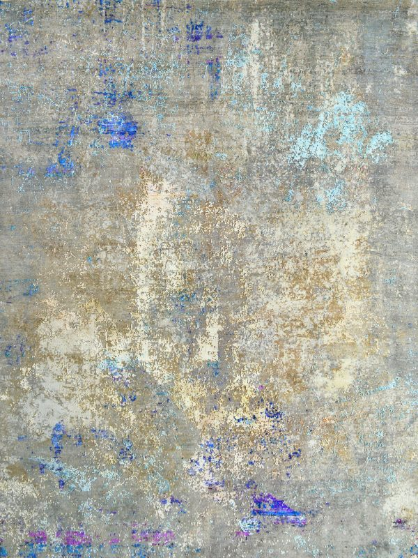 luxury multi-coloured abstract rug