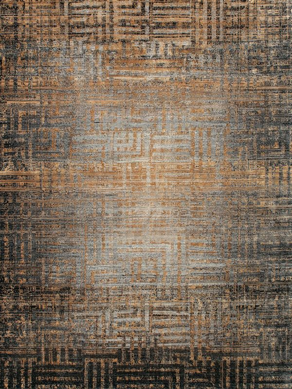 gold and silver abstract design luxury rug