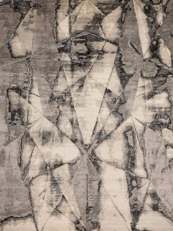 ivory abstract rug