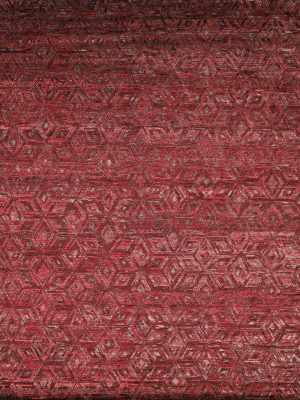 burgundy red geometric rug