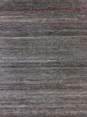 grey tribal style striped rug grey wool and silk