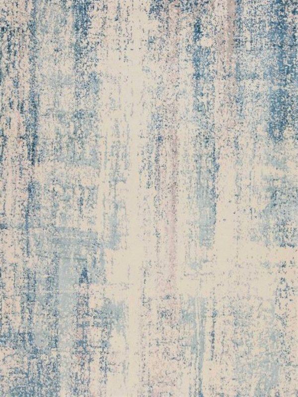 cream blue and purple rug