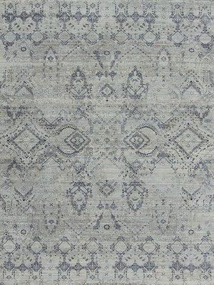 blue and grey transitional rug design