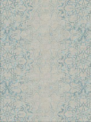 contemporary rug with blue design