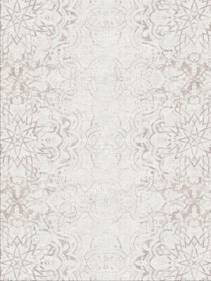 contemporary rug with pale pink silk