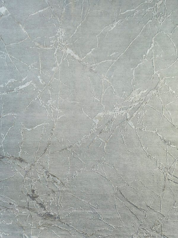 silver designer rug with abstract design