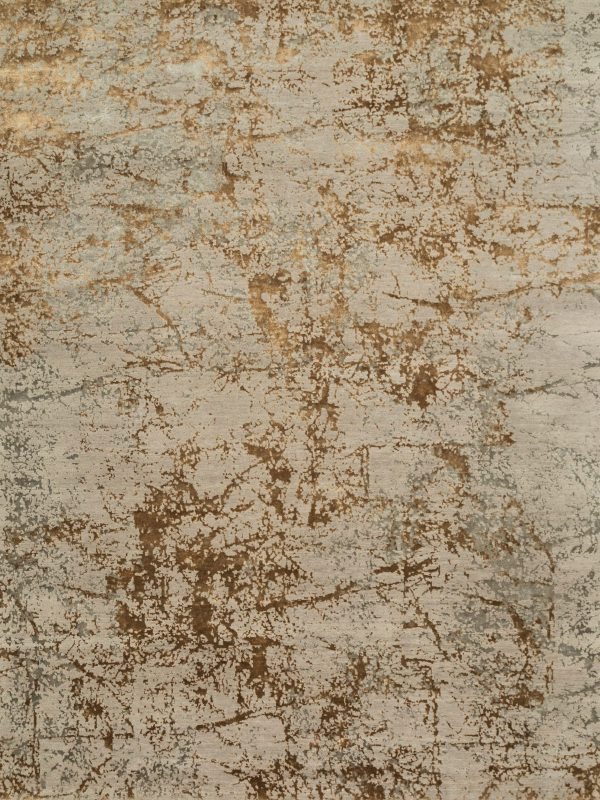 rose gold designer rug with abstract design