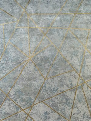 silver and gold contemporary rug