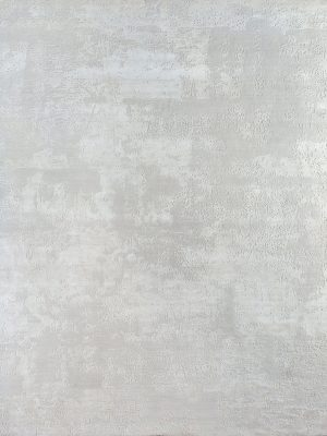 white designer rug in wool and silk