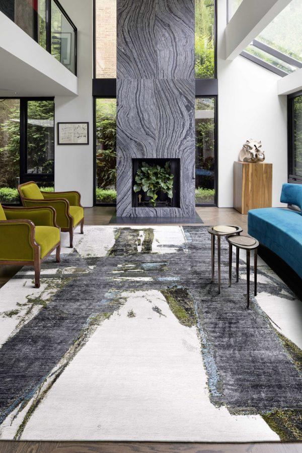 block no.8 rug in sitting room