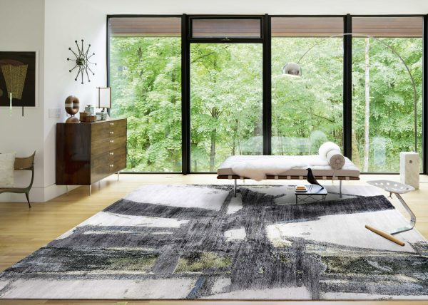 block no.7 modern rug in room