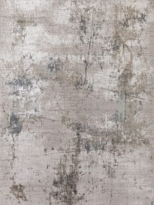 grey abstract modern rug in bamboo silk