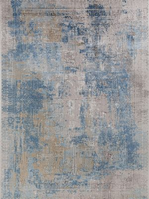 blue modern luxury rug