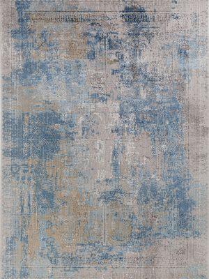 blue modern luxury rug