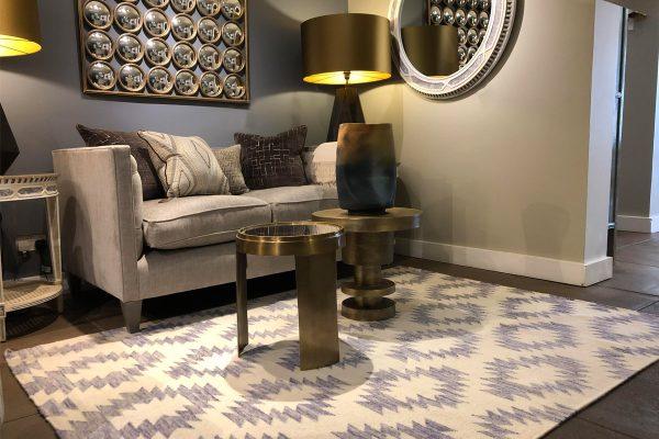 geometric kelim in living room