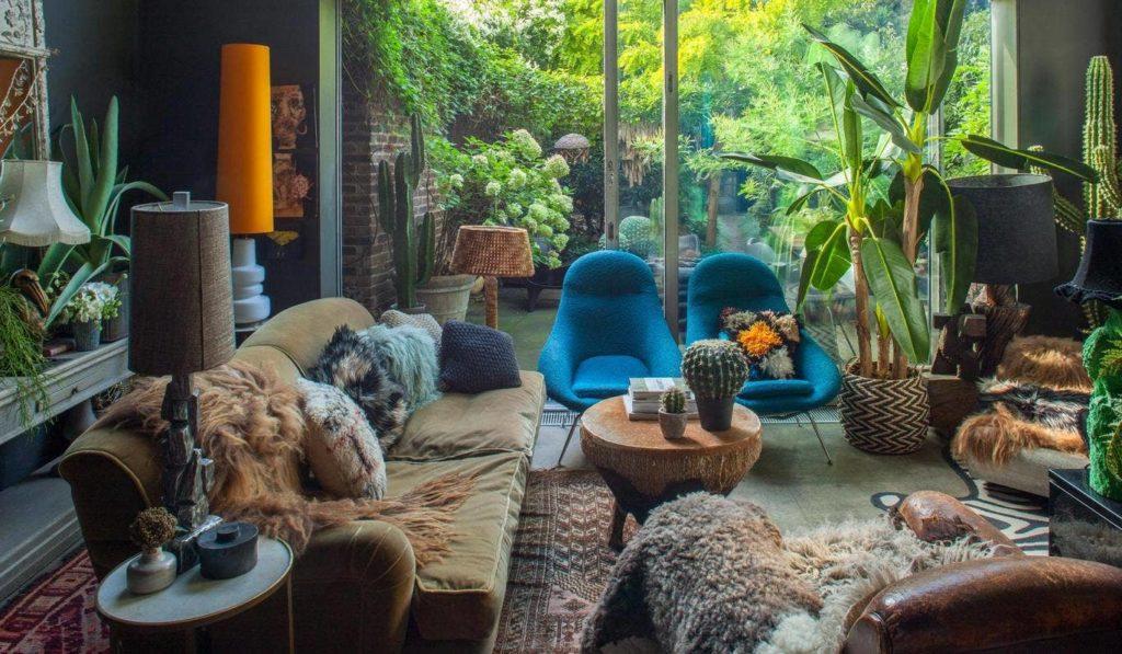abigail ahern interior design with plants