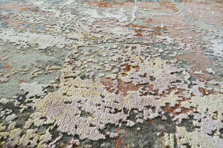 abstract rug close up